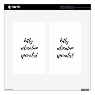 Kitty Relocation Specialist Skins For Kindle Fire