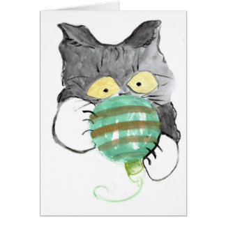 Kitty s Rolly Polly Christmas Ornament Greeting Card