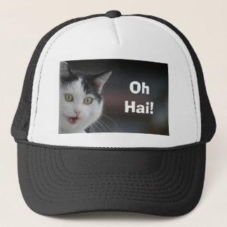 Kitty Says Hello Trucker Hat