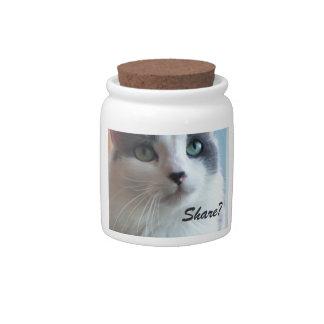 Kitty says Share? Candy Jar