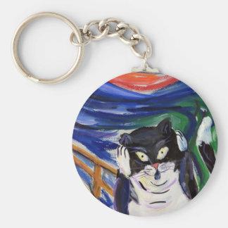 Kitty Scream Keychain