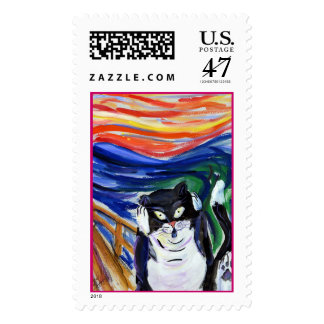 Kitty Scream Stamp