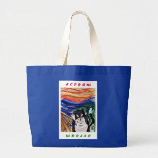 Kitty Scream with Scream Text Bag