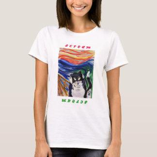 Kitty Scream with Scream Text Shirt