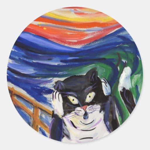 Kitty Scream with Scream Text Sticker