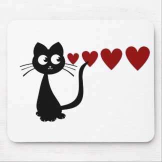 Kitty Sees Love I Mouse Pad