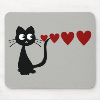 Kitty Sees Love II Mouse Pad