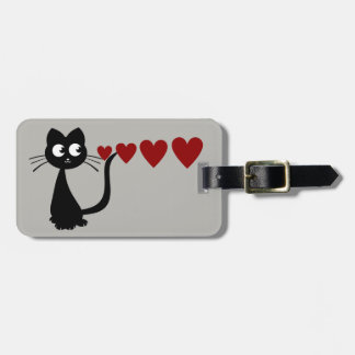 Kitty Sees Love II Tag For Luggage