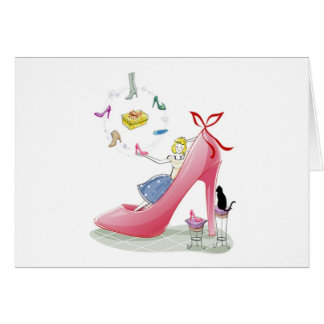 Kitty Shoe Lady Cards