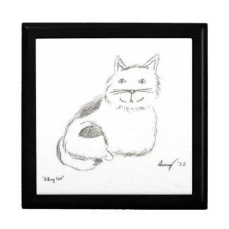 Kitty Sketch Keepsake Box