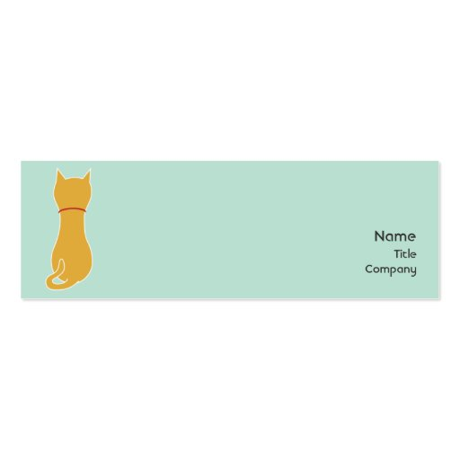 Kitty - Skinny Double-Sided Mini Business Cards (Pack Of 20)