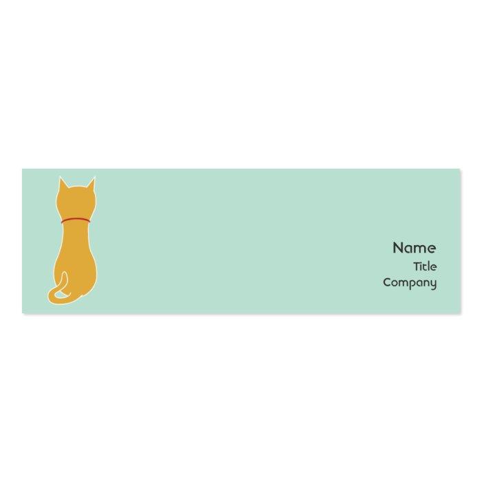Kitty - Skinny Mini Business Card