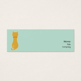 Kitty - Skinny Mini Business Card