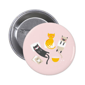 Kitty Slumber Party Buttons
