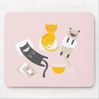 Kitty Slumber Party Mouse Pad