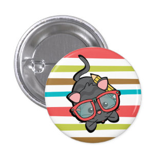 Kitty Smarty Button