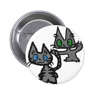 Kitty Sneaking Up On His Friend Pin