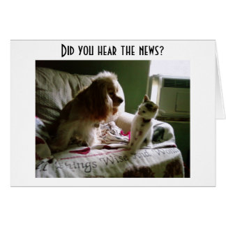 KITTY/SPANIAL SHARE NEWS OF YOUR BIRTHDAY-GROUP CARD