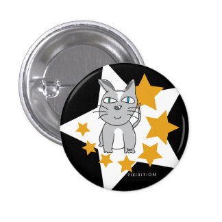 Kitty Star Button