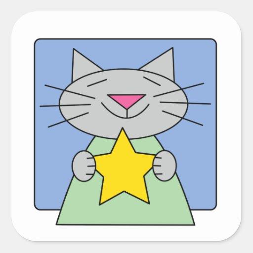 Kitty Star Stickers