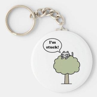 Kitty Stuck In Tree Keychain