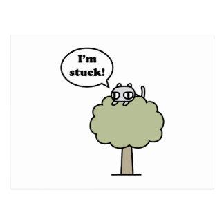 Kitty Stuck In Tree Postcard
