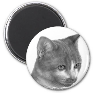 Kitty, Tabby Cat 2 Inch Round Magnet