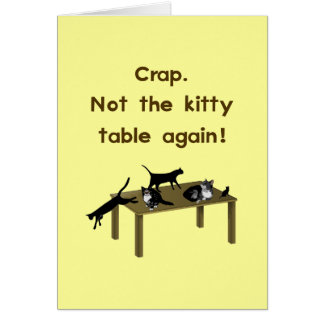 Kitty Table Funny Thanksgiving Card