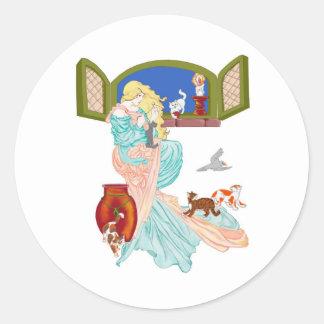 Kitty Tales Round Sticker
