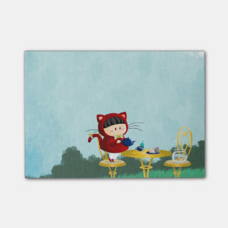 Kitty Tea Party Post-it Notes