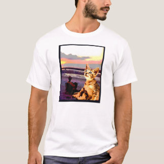 "Kitty Tee ""Kitty Goes to the Beach"""