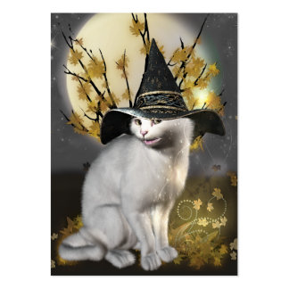 Kitty The Magical Witches Cat Large Business Card