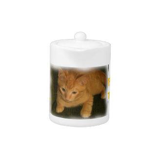 """Kitty """"TOO CUTE FOR TEA"""" Teapot"""