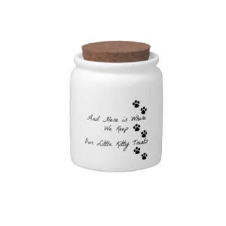 Kitty Treat Jar Candy Dishes