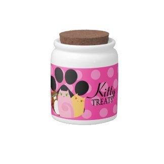 Kitty Treats Candy Jar