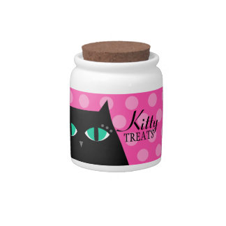 Kitty Treats Jar Candy Dish