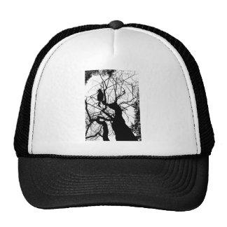 KITTY TREE SILHOUETTE B&W TRUCKER HAT