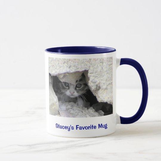 kitty under porch, Stacey's Favorite Mug