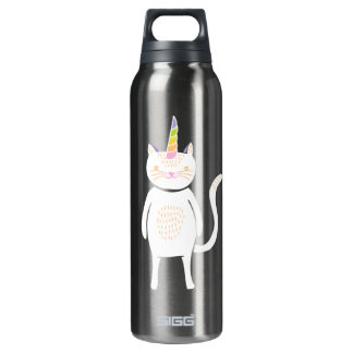Kitty Unicorn 16 Oz Insulated SIGG Thermos Water Bottle