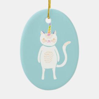 Kitty Unicorn Ceramic Ornament