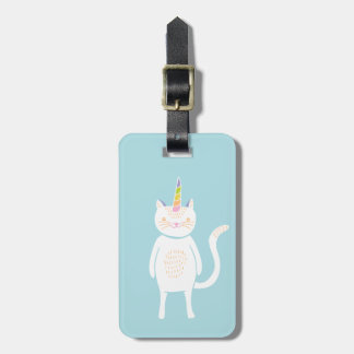 Kitty Unicorn Tags For Luggage