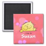 Kitty Vote for Susan Fun Gift Fridge Magnet