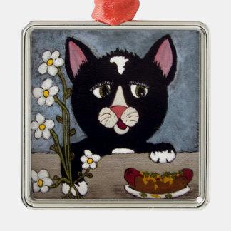 Kitty Wanna' Trade? Metal Ornament