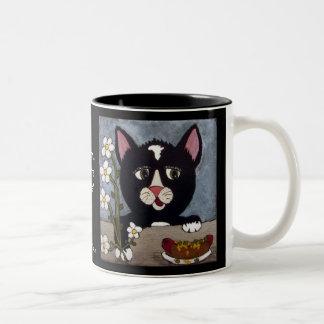 Kitty ~ Wanna' trade? Two-Tone Coffee Mug
