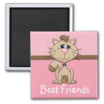 Kitty Whiskers Friendship Magnet