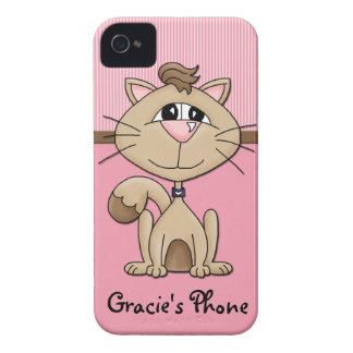 Kitty Whiskers Furry Friends Love Phone Case iPhone 4 Case