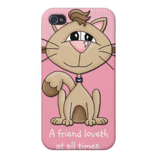 Kitty Whiskers Furry Friends Love Phone Case iPhone 4 Cover