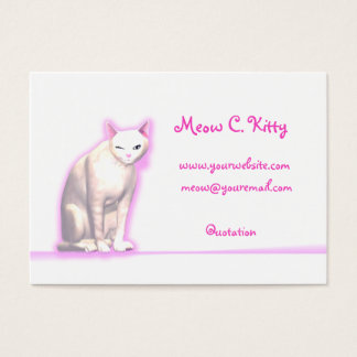 Kitty Wink - Chubby Size Business Card
