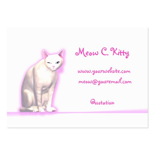 Kitty wink chubby size business card templates zazzle for Business card size ad