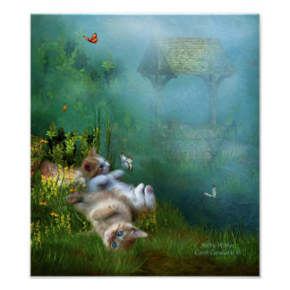 Kitty Wishes Art Poster/Print Poster